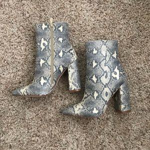 Brand new snakeskin booties
